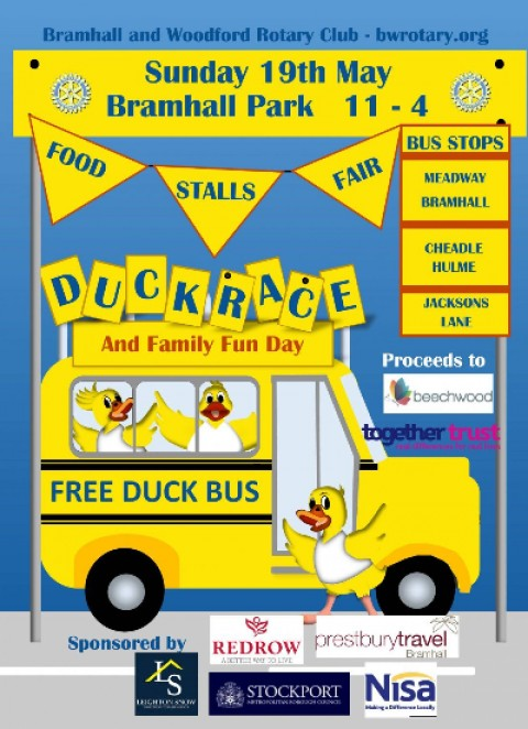 Leighton Snow sponsors Bramhall Duck Race charity event